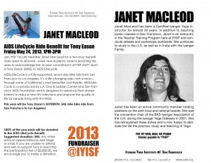 Face of Iyengar Yoga Teacher, Janet Macleod