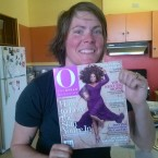 Emily Holding Oprah Winfrey Network Magazine