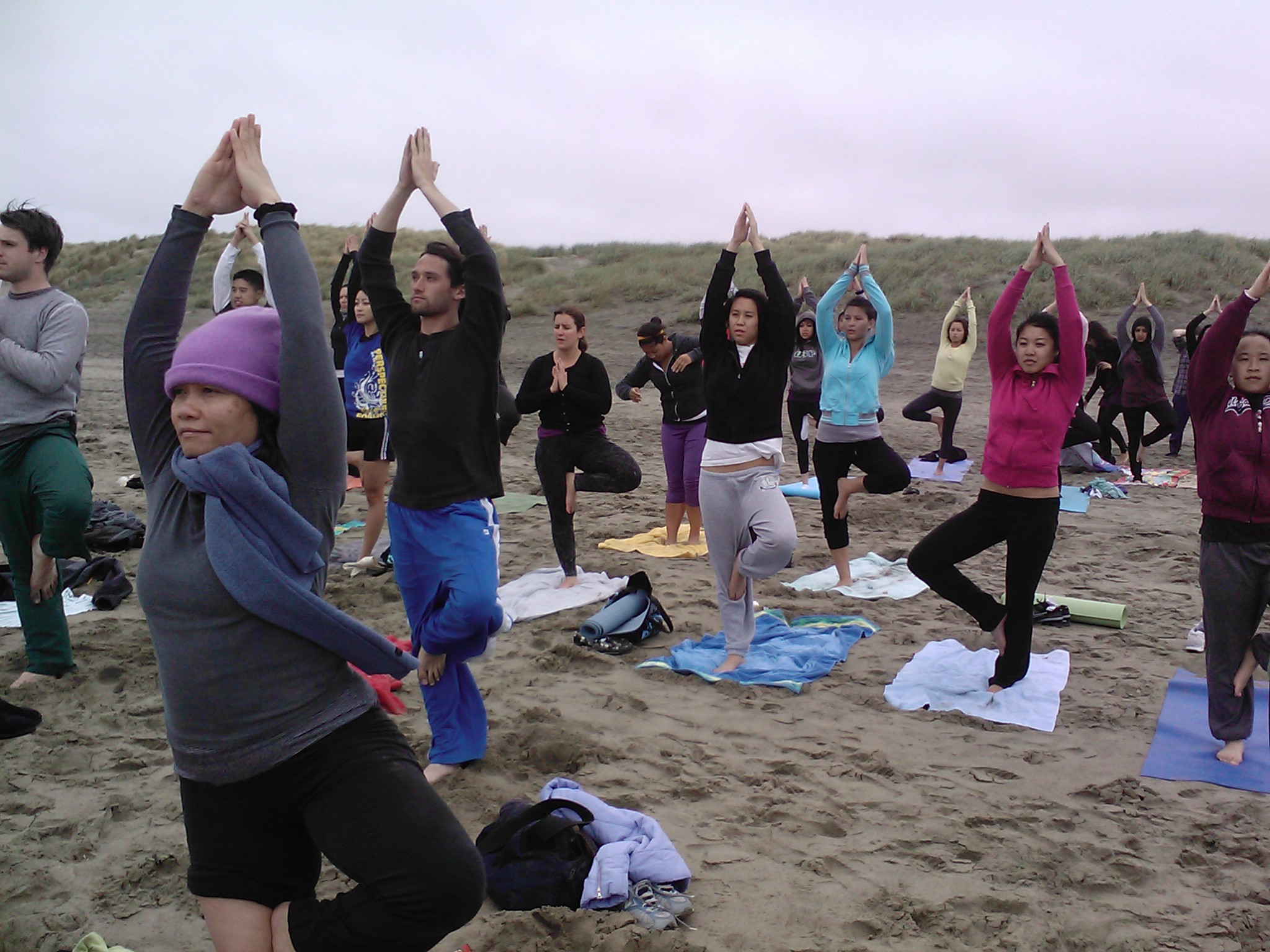 yoga Class Ocean Beach San Francisco