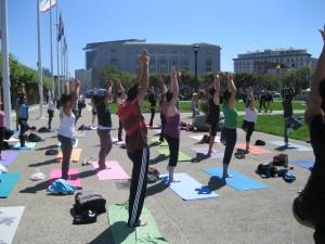 Vrksasana - Tree Pose in San Francisco Yoga Class