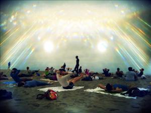Yoga Class at Beach, San Francisco