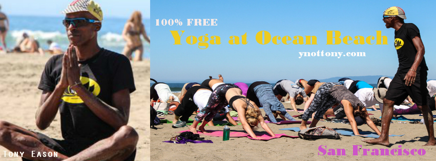 Yoga Students at Outdoor Yoga Class in San francisco