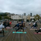ParsvoKonasana Pose on Pier 39