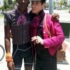 AIDS/Lifecycle Cyclist Tony Eason & Richie Lillard at the Finish Line.