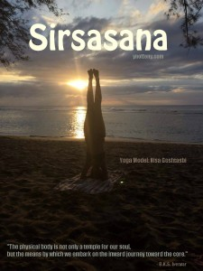 Woman doing Sirsasana Yoga Pose