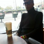 19th Yr Cyclist, Tony Eason at Starbucks Coffee