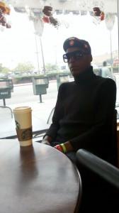 19th Yr Cyclist, Tony Eason at Starbucks Coffee