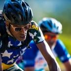 AIDS/Lifecycle Cyclist Tony Eason in Brazil Bike Jersey