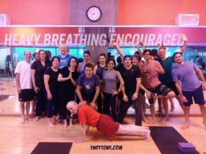 Crunch Gym Yoga Students