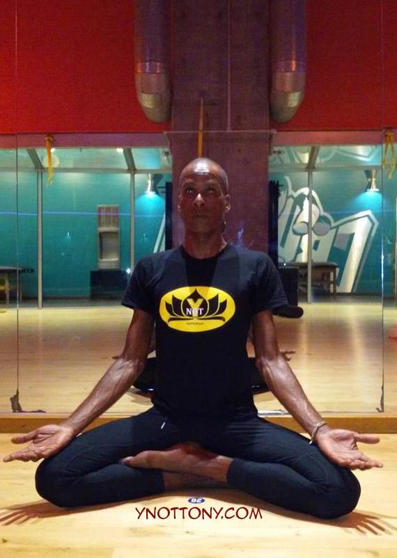 Yoga Teacher, Tony Eason in Siddhasana