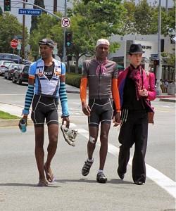 Cyclist Tony Eason & David Sears with ALC Support Richie Lillard.