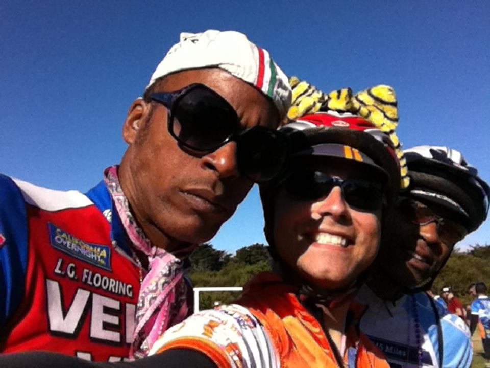AIDS/Lifecycle Cyclist Smiling Together