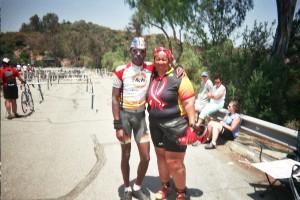 Long time AIDS Life Cycle Cyclists- Jan & Tony Eason (left)