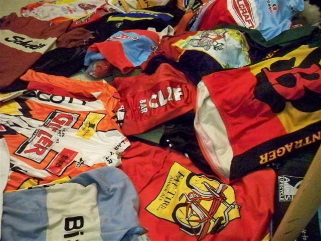 Collage of Bike Jerseys