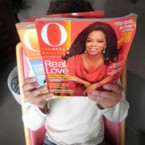 Oprah Winfrey Fan supporting AIDs Foundation