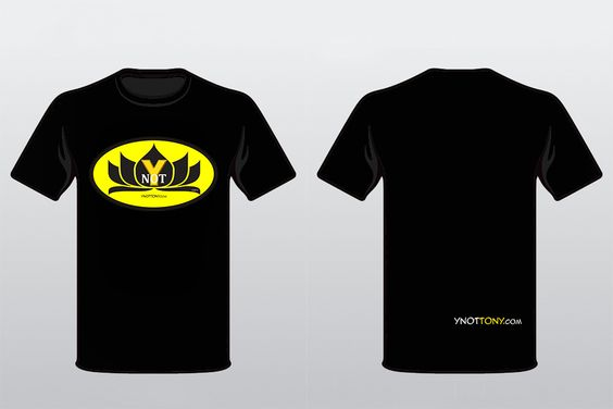 Ynot Tshirt Front & Back View.
