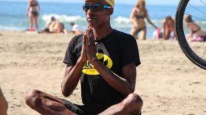 Yoga Student in Ynot Tshirt.