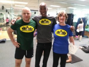 Active Sports Club Yoga Students wearing the Ynot Tee Shirt
