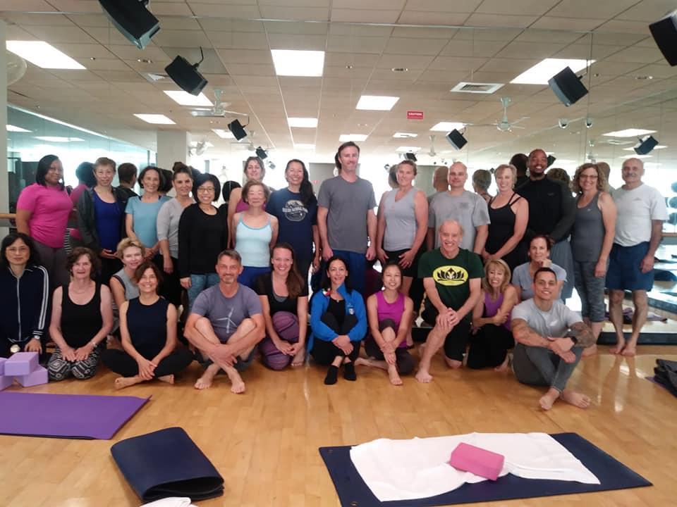Active Sports Club Yoga Students